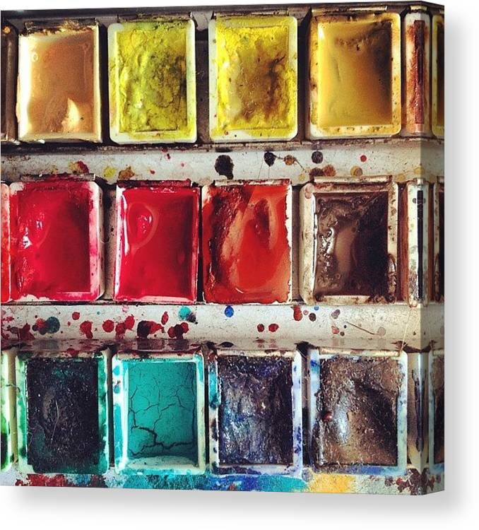 Paint Canvas Print featuring the photograph Paintbox by Nic Squirrell