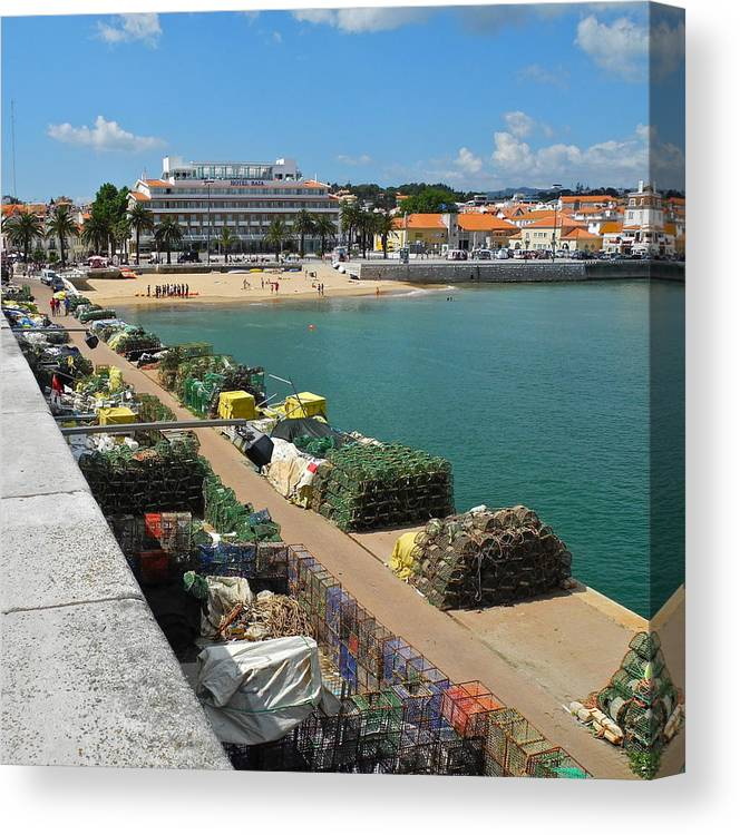 Cascais Canvas Print featuring the photograph Ready for Fishing Tomorrow by Kirsten Giving