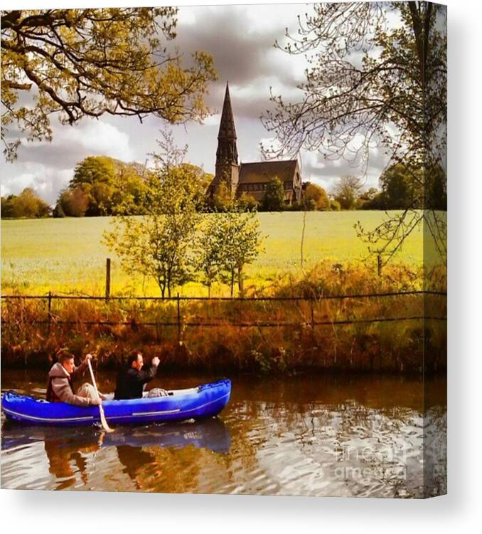 Dinghy Canvas Print featuring the photograph Sail Away by Abbie Shores