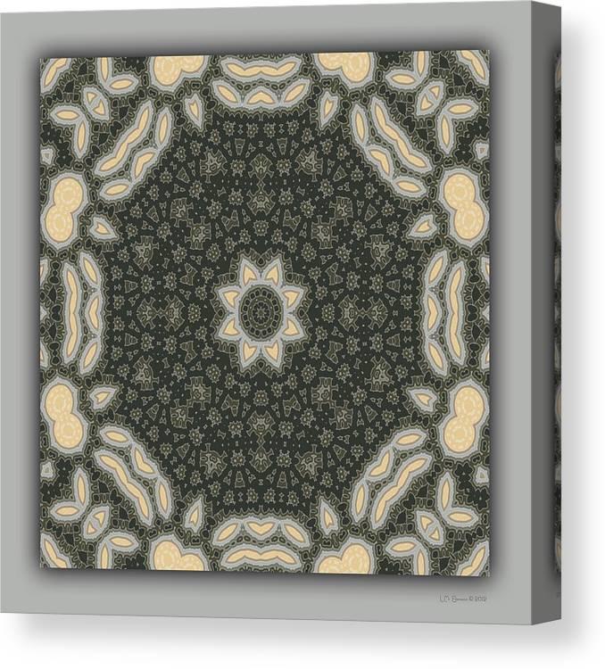 Kaleidoscope Canvas Print featuring the digital art Sand and Shadows 3 by Lynn Evenson