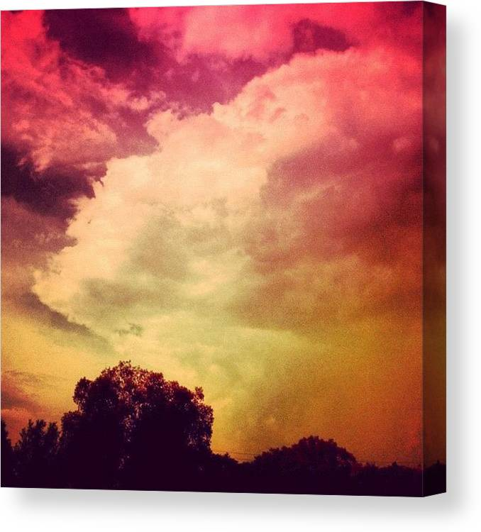 Love Canvas Print featuring the photograph #sky #cary #colourful #clouds ☁ by Katie Williams