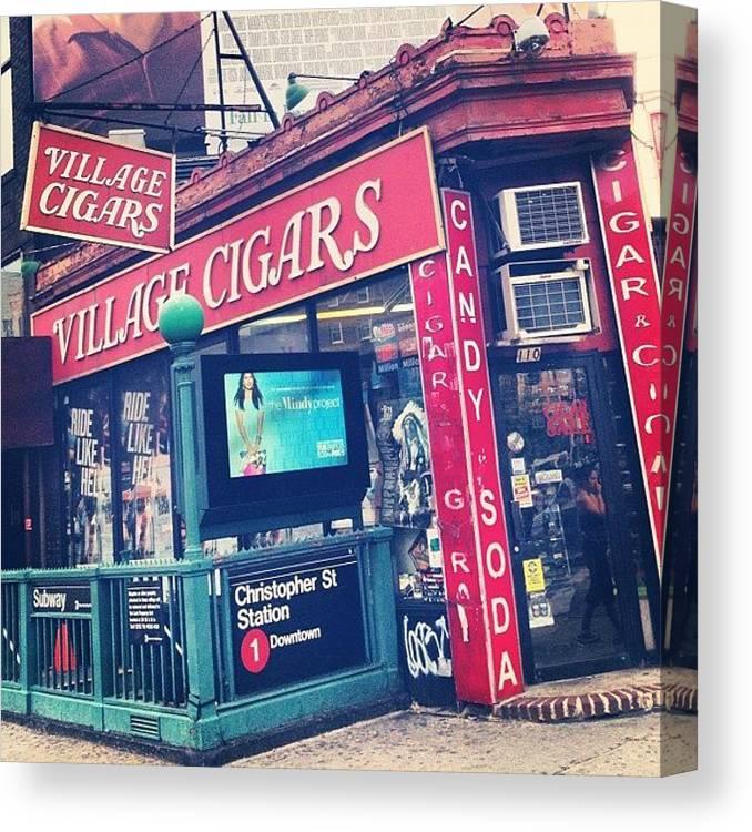 Summer Canvas Print featuring the photograph Village Cigars by Randy Lemoine