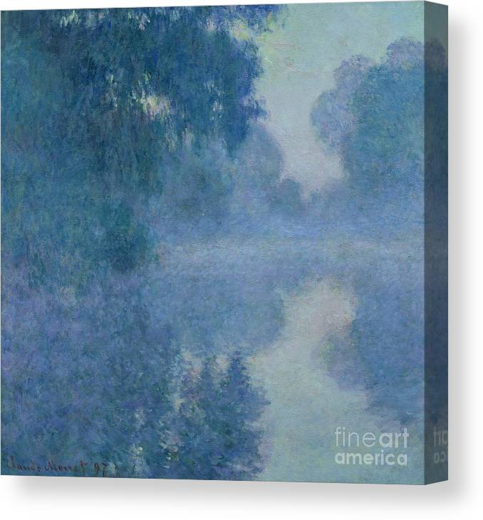 Impressionist Canvas Print featuring the painting Branch of the Seine near Giverny by Claude Monet