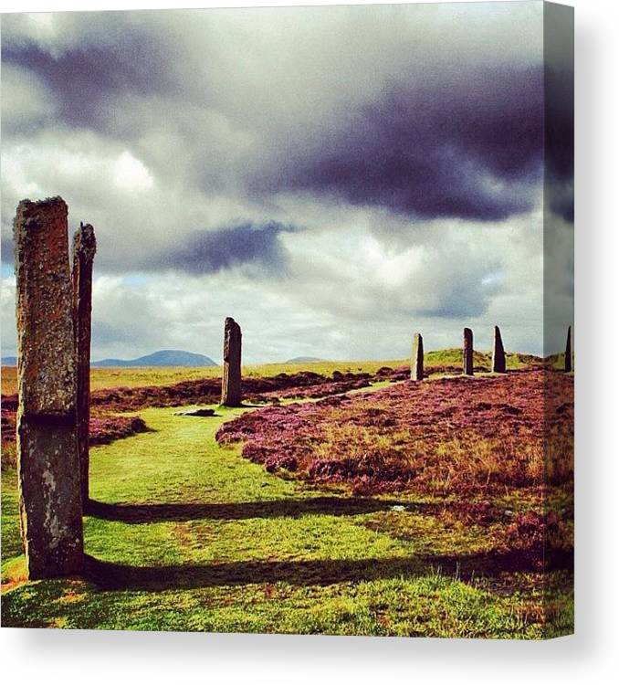 Stones Canvas Print featuring the photograph Ring Of Brodgar by Luisa Azzolini