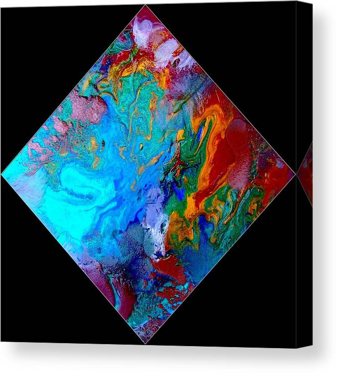 Abstract Canvas Print featuring the painting Abstract - Evolution Series 1012 by Dina Sierra
