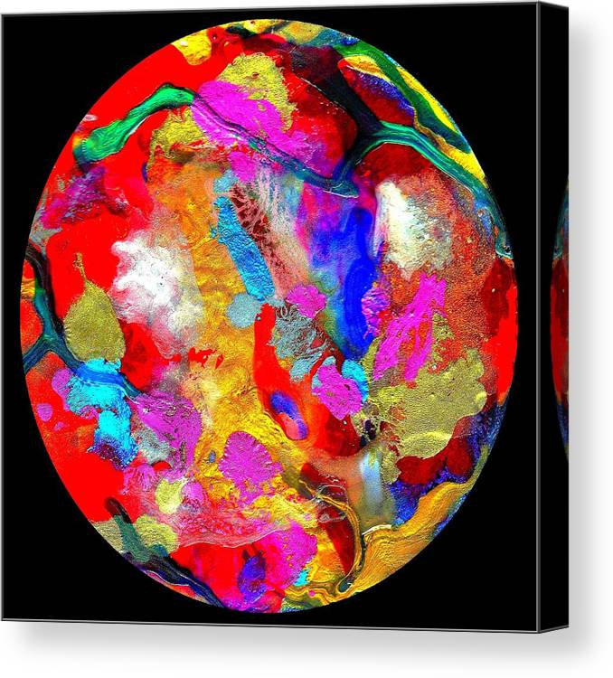 Abstract Canvas Print featuring the painting Abstract - Evolution Series 1013 by Dina Sierra