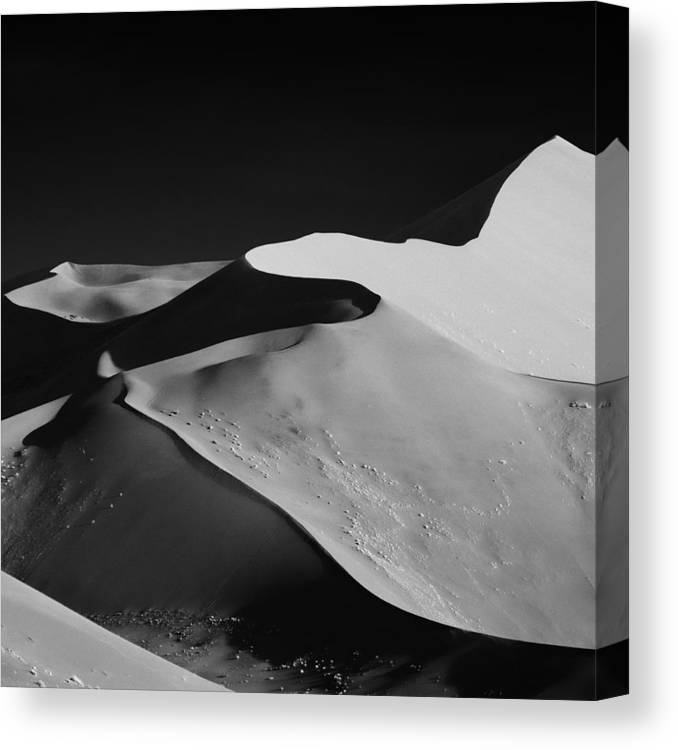 Canvas Print featuring the photograph Abstract Dunes by Mathilde Guillemot