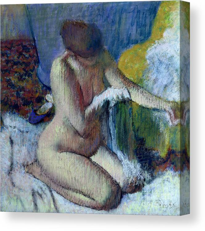 After Canvas Print featuring the painting After the Bath by Edgar Degas