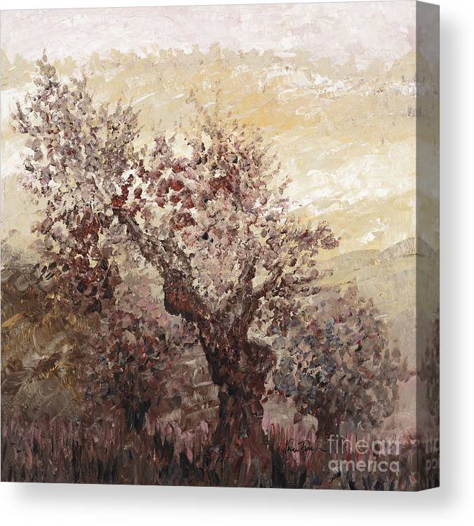Landscape Canvas Print featuring the painting Asian Mist by Nadine Rippelmeyer