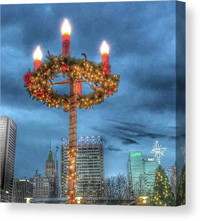 City Canvas Print featuring the photograph #baltimore #mgmart #mariannamills by Marianna Mills