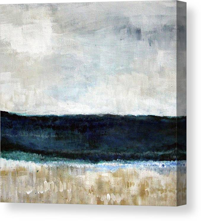 Beach Canvas Print featuring the painting Beach- abstract painting by Linda Woods
