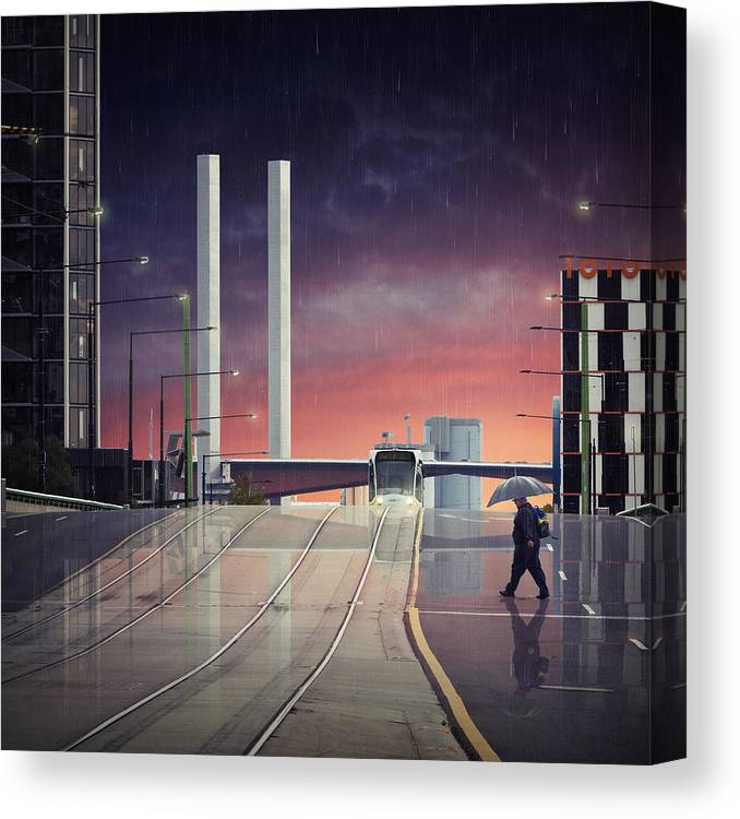 Melbourne Canvas Print featuring the photograph Beyond The Bolte by Adrian Donoghue