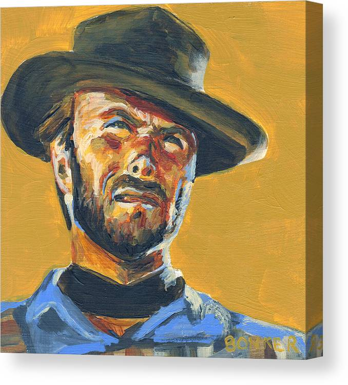 Portrait Canvas Print featuring the painting Blondie   The Good The Bad and The Ugly by Buffalo Bonker