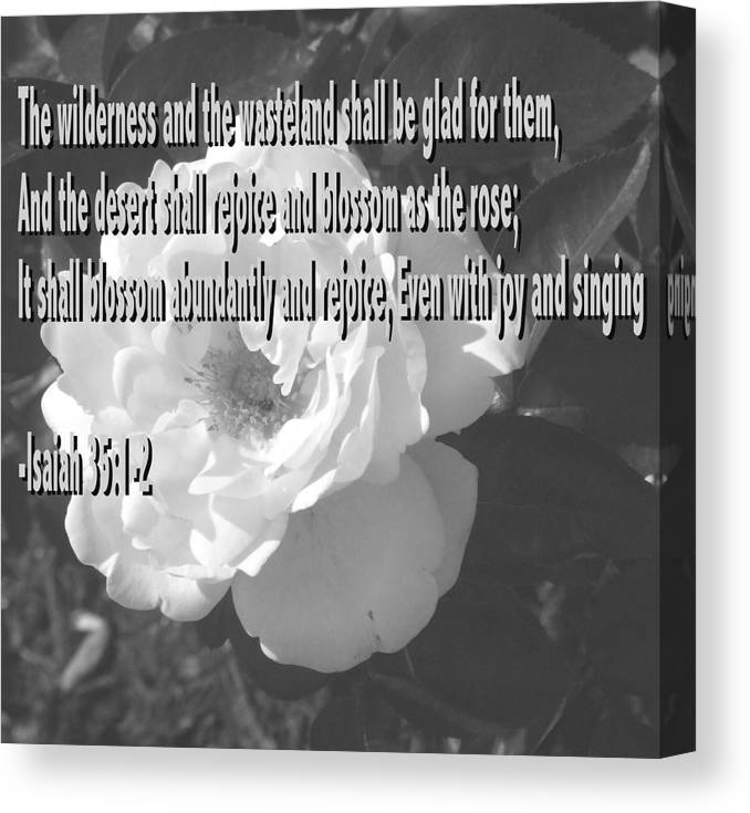 Christian Canvas Print featuring the photograph Blossom as the Rose by Pharris Art