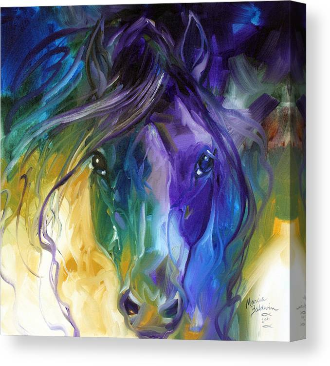 Horse Canvas Print featuring the painting Blue Roan Abstract by Marcia Baldwin