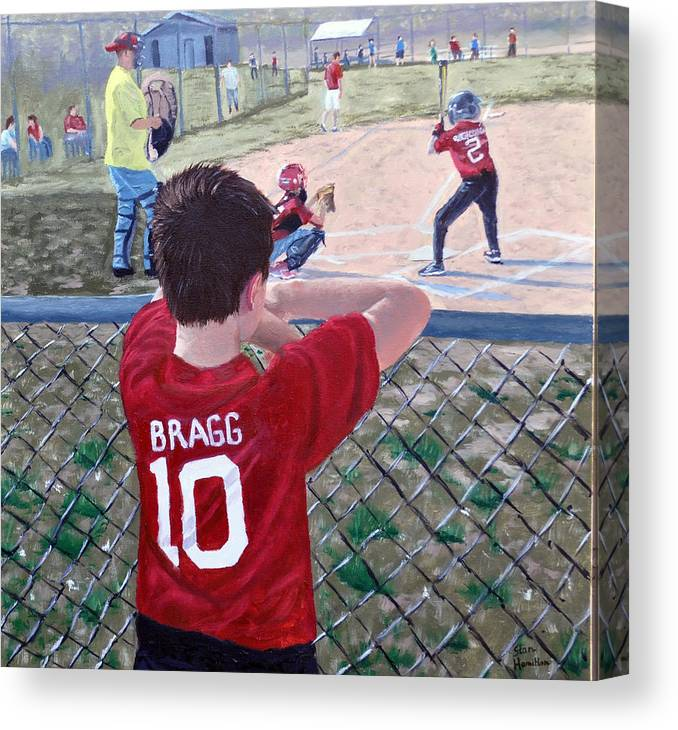 Child Canvas Print featuring the painting Brock by Stan Hamilton