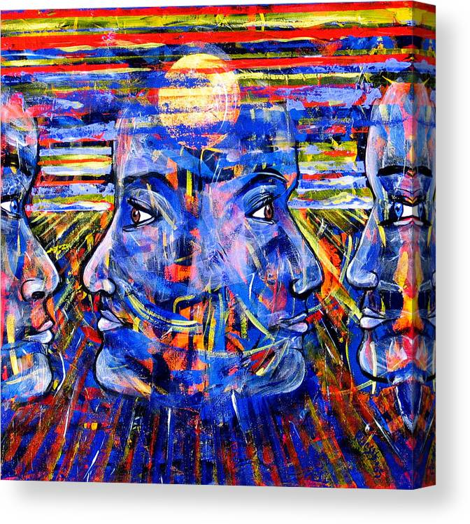 Confrontation Canvas Print featuring the painting Can Not Live A Lie by Rollin Kocsis