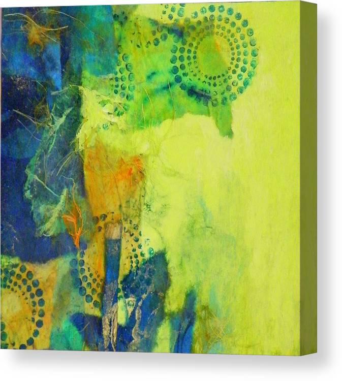 Mixed Media Canvas Print featuring the painting Circles 2 by Tara Milliken