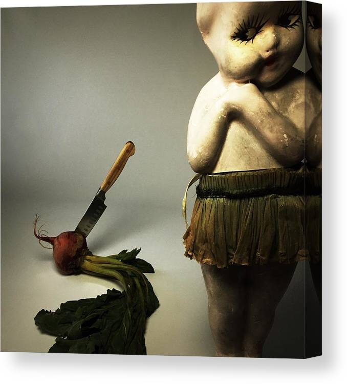 Death Canvas Print featuring the photograph Death Of A Vegetable by Subject Dolly