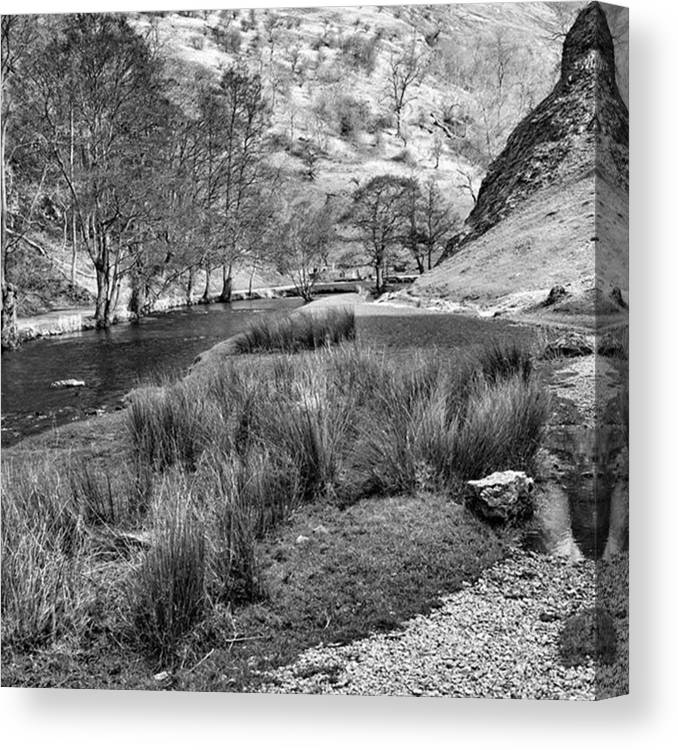 Dale Canvas Print featuring the photograph Dovedale, Peak District UK by John Edwards