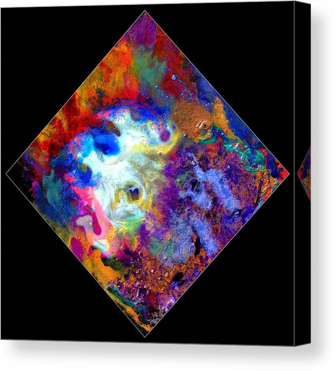 Abstract Canvas Print featuring the painting Evolution Series 1006 by Dina Sierra