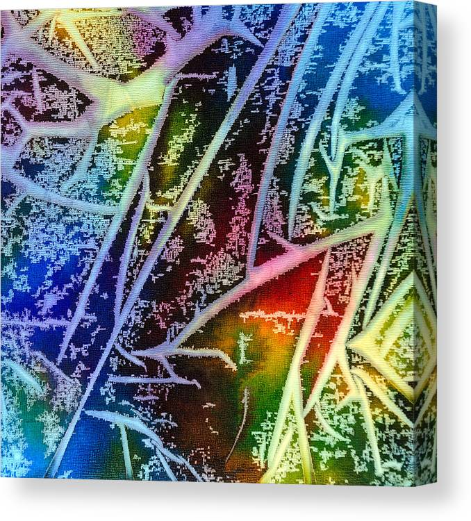 Abstract Canvas Print featuring the painting Expanding Awareness - A - by Sandy Sandy