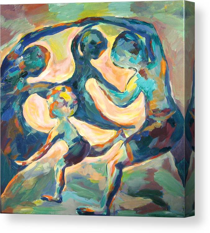 Family Canvas Print featuring the painting Family Dynamics by Naomi Gerrard