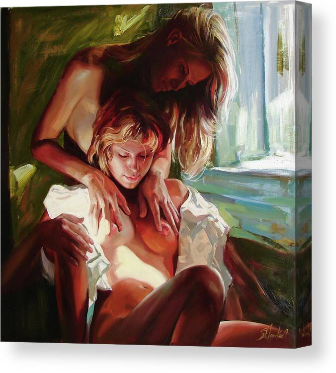 Ignatenko Canvas Print featuring the painting Female secrets by Sergey Ignatenko