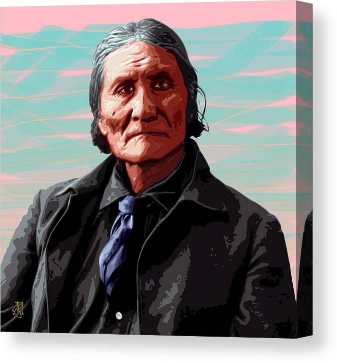Digital Print Canvas Print featuring the digital art Geronimo by John Helgeson