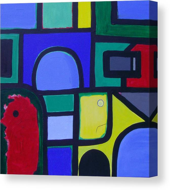 Street Canvas Print featuring the painting Hommage a Mark Rothko by Michael Puya