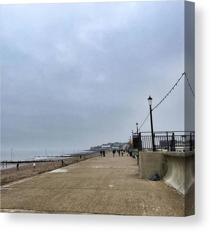 Beautiful Canvas Print featuring the photograph Hunstanton At 4pm Yesterday As The by John Edwards
