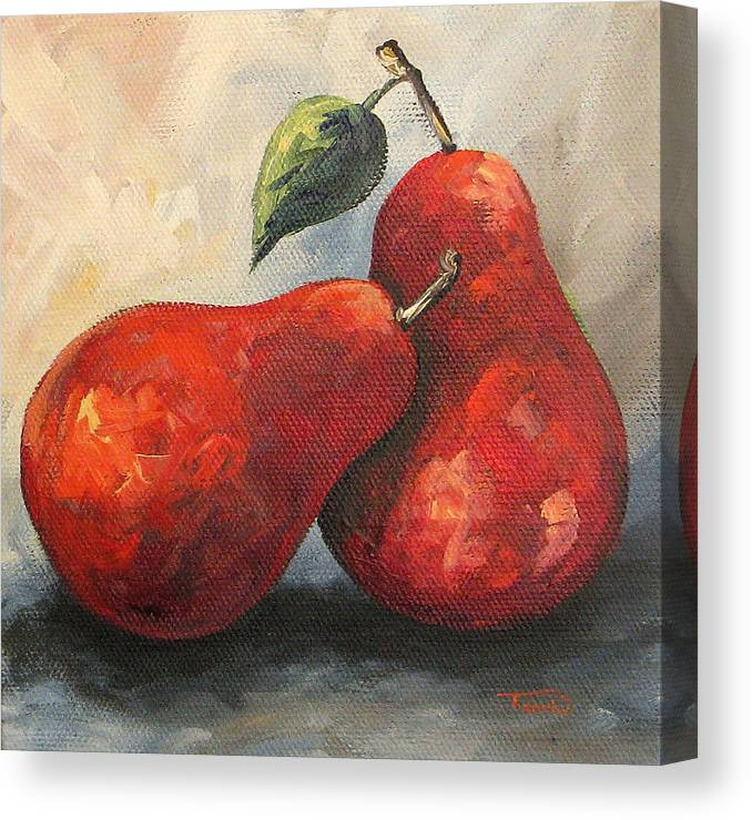 Pear Canvas Print featuring the painting Lean on Me by Torrie Smiley
