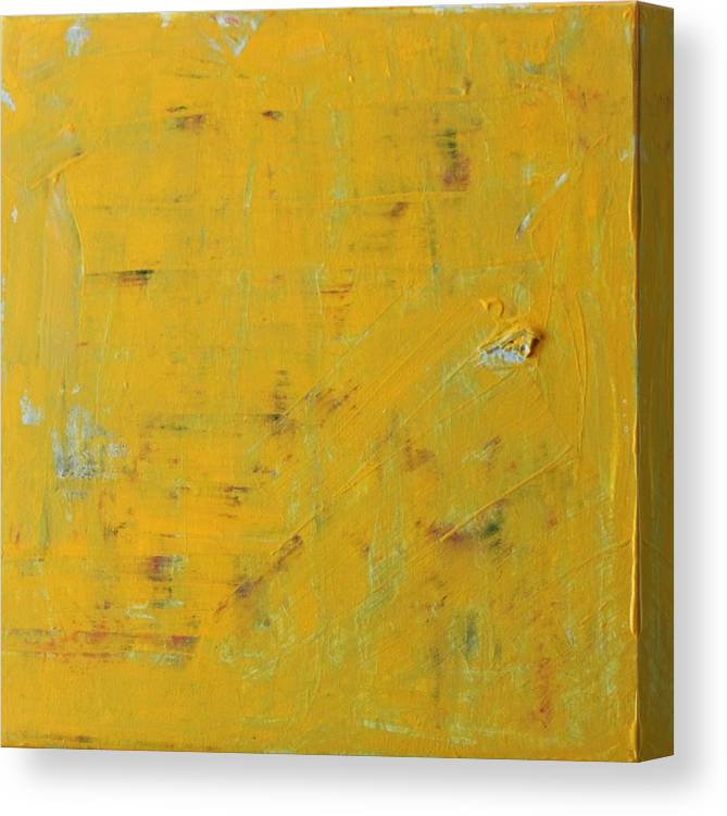 Yellow Canvas Print featuring the painting Little Dab Will Do Ya by Pam Roth O'Mara