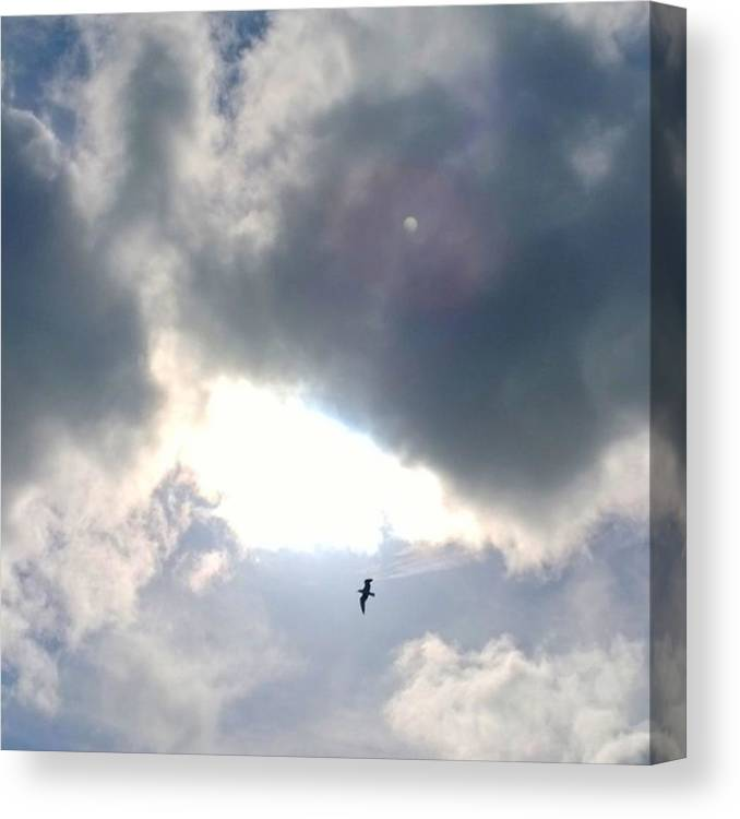 Clouds Canvas Print featuring the photograph Magical #clouds Today :-) #sky #weather by Shari Warren