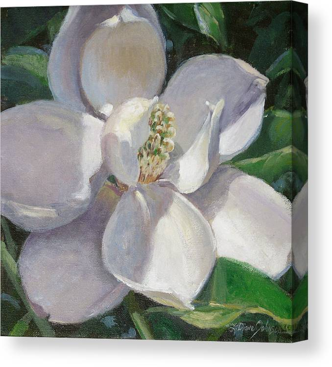 Magnolia Canvas Print featuring the painting Magnolia by L Diane Johnson