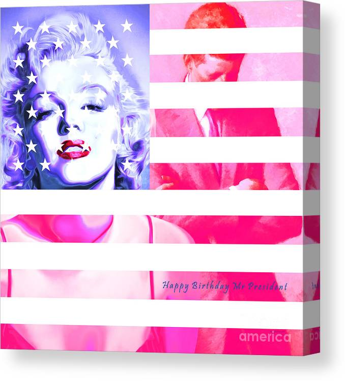 Marilyn Monroe Happy Birthday Mr President 20160105 Square Canvas Print Canvas Art By Wingsdomain Art And Photography