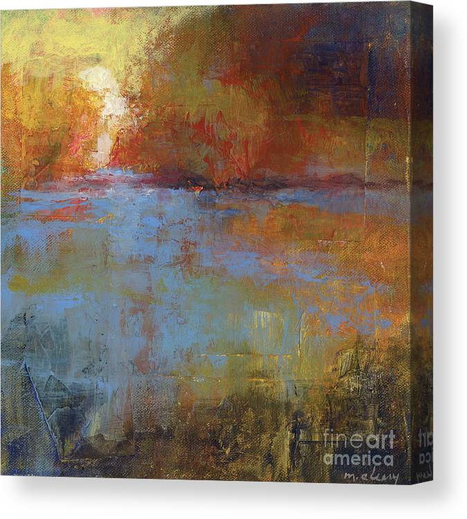 Abstract Canvas Print featuring the painting Meditation Place 2 by Melody Cleary