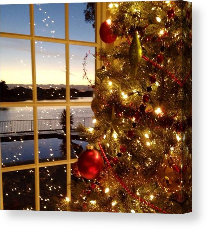 Canvas Print featuring the photograph Merry Christmas Everyone!!! by Juan Silva