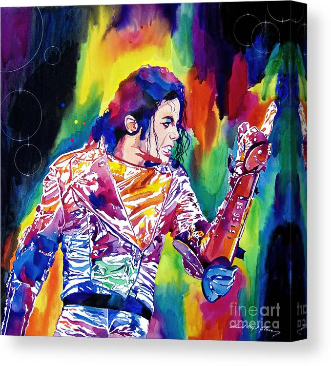 Michael Jackson Canvas Print featuring the painting Michael Jackson Showstopper by David Lloyd Glover