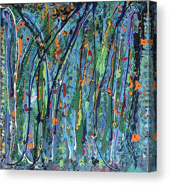 Bright Canvas Print featuring the painting Mid-Summer Night's Dream by Pam Roth O'Mara