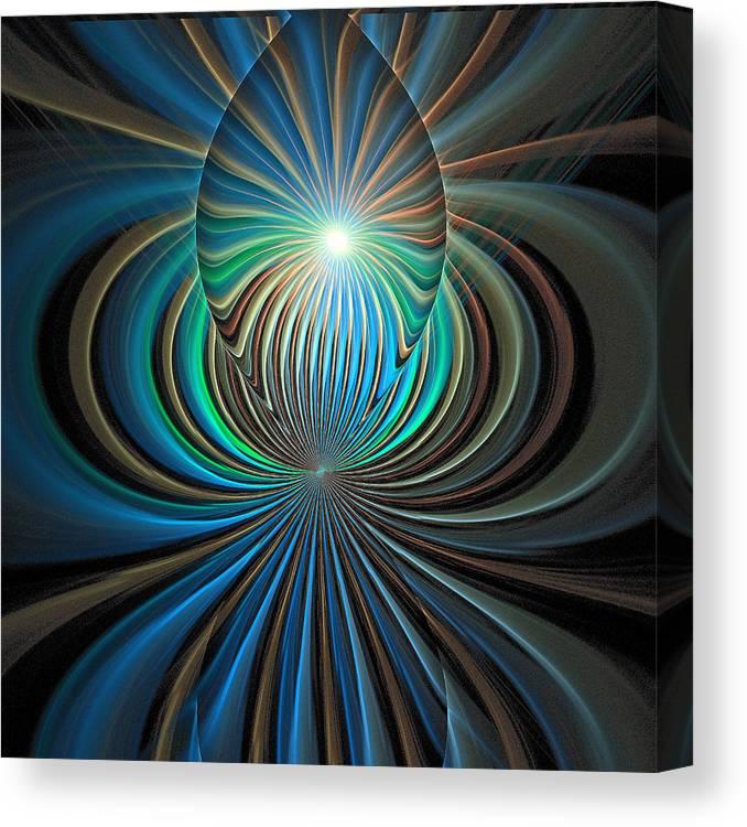 Digital Art Canvas Print featuring the digital art Namaste by Amanda Moore