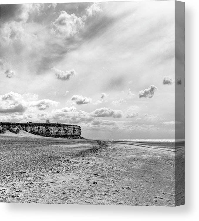 Eastanglia Canvas Print featuring the photograph Old Hunstanton Beach, Norfolk by John Edwards