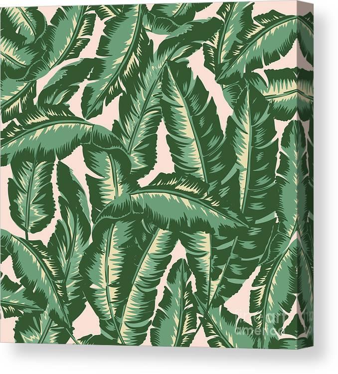 Leaves Canvas Print featuring the digital art Palm Print by Lauren Amelia Hughes