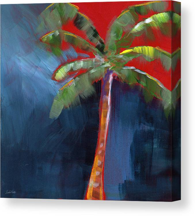 Palm Tree Canvas Print featuring the painting Palm Tree- Art by Linda Woods by Linda Woods