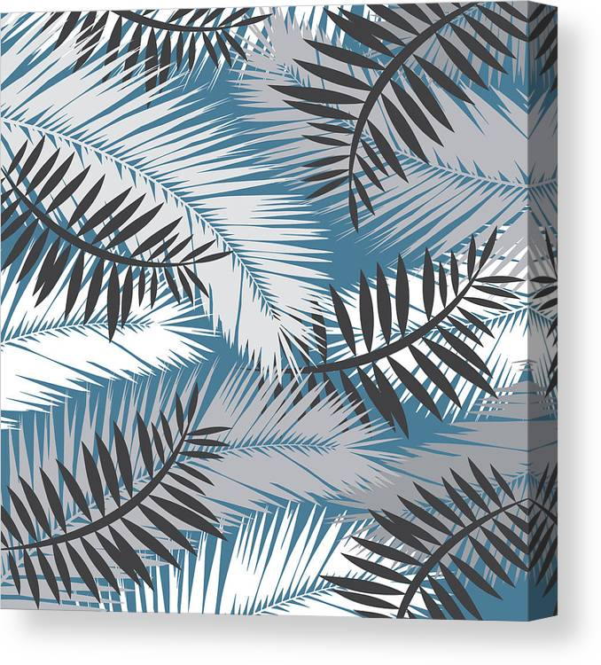 Summer Canvas Print featuring the digital art Palm Trees 10 by Mark Ashkenazi