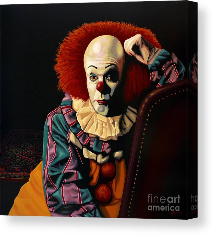 Pennywise Canvas Print featuring the painting Pennywise by Paul Meijering