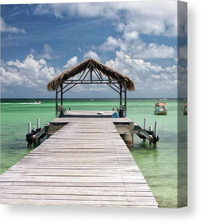 Beautiful Canvas Print featuring the photograph Pigeon Point, Tobago#pigeonpoint by John Edwards