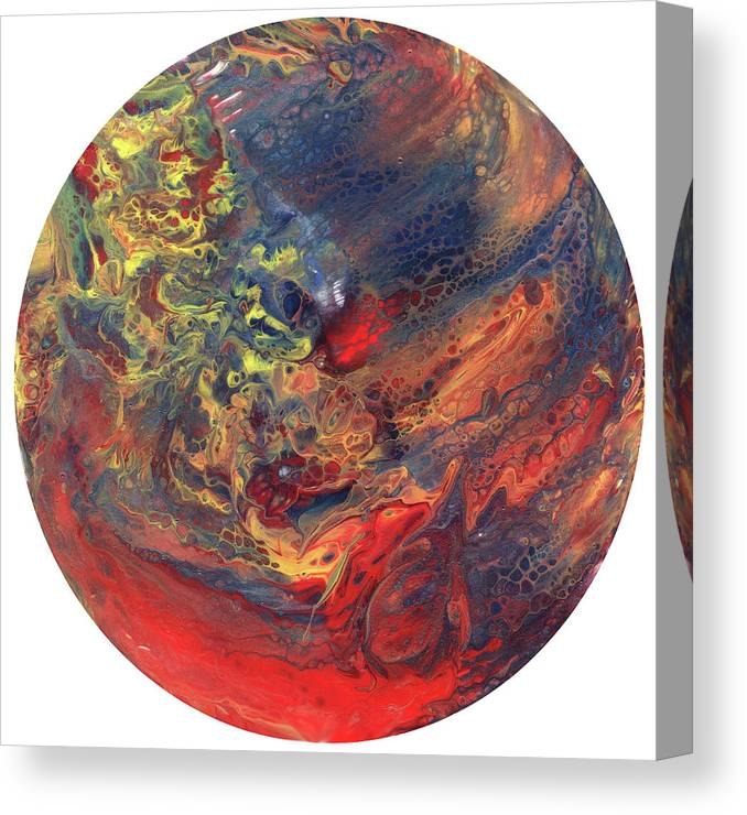 Abstract Canvas Print featuring the painting Red Planet by Ken Meyer jr
