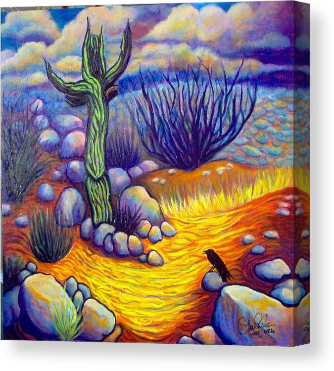 Landscape Canvas Print featuring the painting Resurrection by Steve Lawton