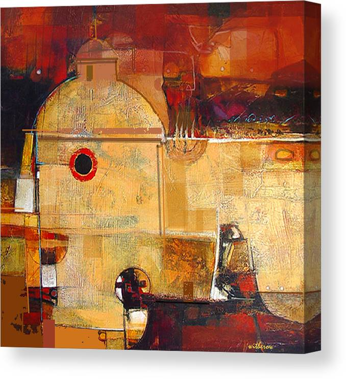Landscape Canvas Print featuring the digital art San Ignacio by Dale Witherow